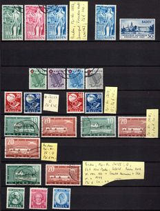 French Zone 1946 -1949 'collection with duplication on plug-in cards'