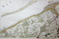 Belgium, Oostende, Brugge, Knokke; Louis Capitaine - Carte du Pays Sud Ouest du No. 2. Ostende - ca. 1789