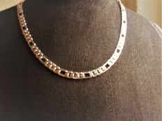 Sterling silver unisex necklace, length 50 cm