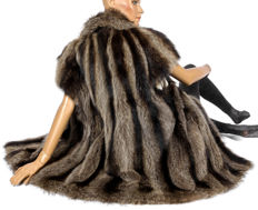Raccoon fur vest pelt vest raccoon with new lining