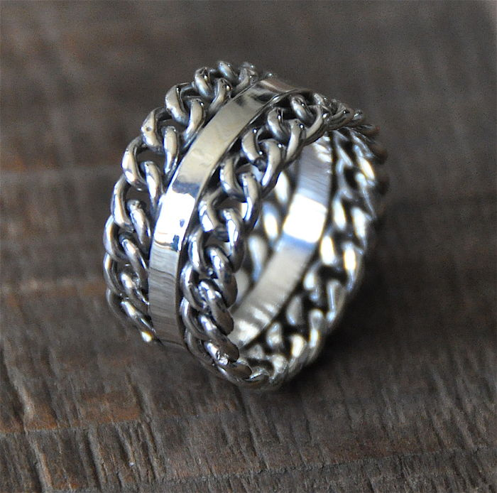 "Silver Women's Ring ""New York"""