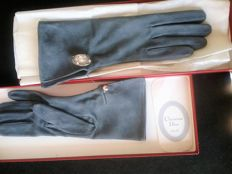 Christian Dior and elegant women's suede gloves.