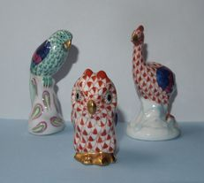 Herend (Hungary) - three animal figures (porcelain)