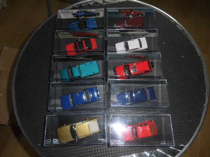 Ixo-Eaglemoss - Scale 1/43 - Lot with 10 Models: 9 x Opel & 1 x Bitter CD