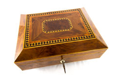 A Regency yew wood and parquetry table box - England - circa 1830