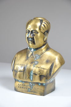 Large Bronze Mao Bust - China - mid 20th century
