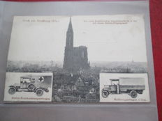 Postcards/military mail WW I Germany - Belgium, France - most cards were really sent - with texts