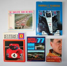 Collection of 5 car books on racing / F1.