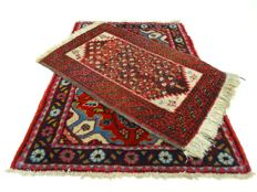 "Duo Hamadan - 81 x 59 cm and 66 x 43 cm - ""Two Persian rugs in splendid condition"". - Note! no reserve price: start at € 1.00"