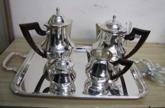Lot consisting of a 5-piece tea set - Italian manufacturing - Total weight 2,599.00 grams