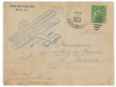 Italy, 1925 – De Pinedo airmail – on envelope sent from Corregidor to Manila – 1925 (12 September).