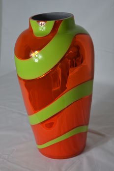 Nason & Moretti - large mirrored vase snake