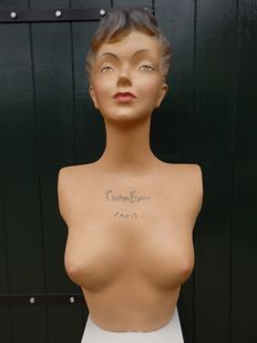 Life-size advertising bust ' Champs Elysees Paris'- FRANCE - late 20th century