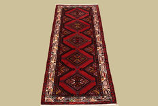 Hand knotted Persian carpet Hamadan approx. 195 x 75 cm