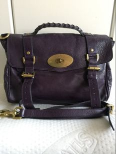 Mulberry - Regular Alexa in Plum Buffalo Leather 2way Bag