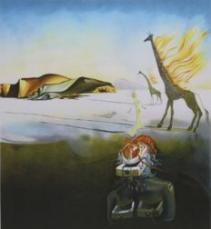 Salvador Dalí (after) - Burning Giraffe