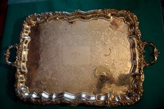 Regency Old Sheffield Plate silver Tea Tray c.