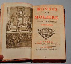 Moliere - Oeuvres de Moliere - 5 volumes - 1739/1766
