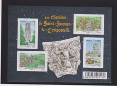 Francxe 2012 - Chemin de Compostelle sheet, accidental non-perforated - N° 4572A Spink and Maury