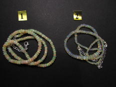 Necklace in opal and 925 silver - 2 pieces - 91.8 ct