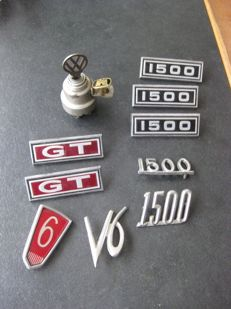 Classic car lot - ignition Volkswagen, emblems presumably Ford