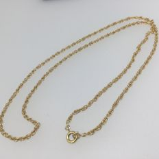 """Double """"forcat"""" link chain in 18 kt yellow gold - 49 cm"""