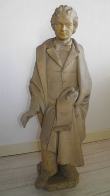 Large terracotta sculpture of presumably a poet or composer - late 19th century