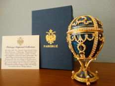 Authentic Fabergé Imperial egg !  - private collection - Swarovski rhinestones - 24 k gold finish + COA
