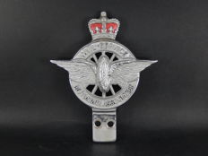 Vintage CSMA Civil Service Motor Association Badge Made by Collins London Excellent Red Enamel 10.5 cm by 9.5 cm