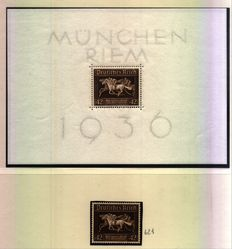 German Empire - collection of some sheets - Michel catalogue no. 4/5/6/7/8/9/10/11 + individuals