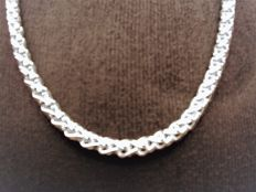 Sterling silver women's necklace, 925, length 51 cm
