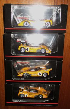 Minichamps - Scale 1/43 - Lot with 4 McLaren M8A - M8B - M8D Can Am 1968/1969/1970