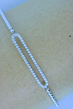 Bracelet set with diamonds, 0.50 ct in total