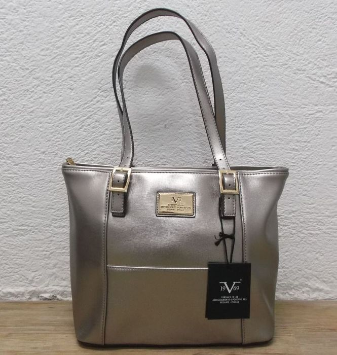 2a043bb37c2e VERSACE 1969 V ITALIA Leather Tote Bag .. finest selection 9865f 39ae4 Versace  V1969 Abbigliamento Sportivo - handbag