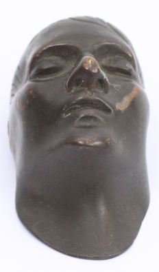 Napoleon death mask - bronze sculpture - France, 19th century