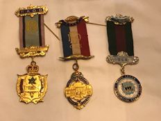 Collection of 3 Masonic medals