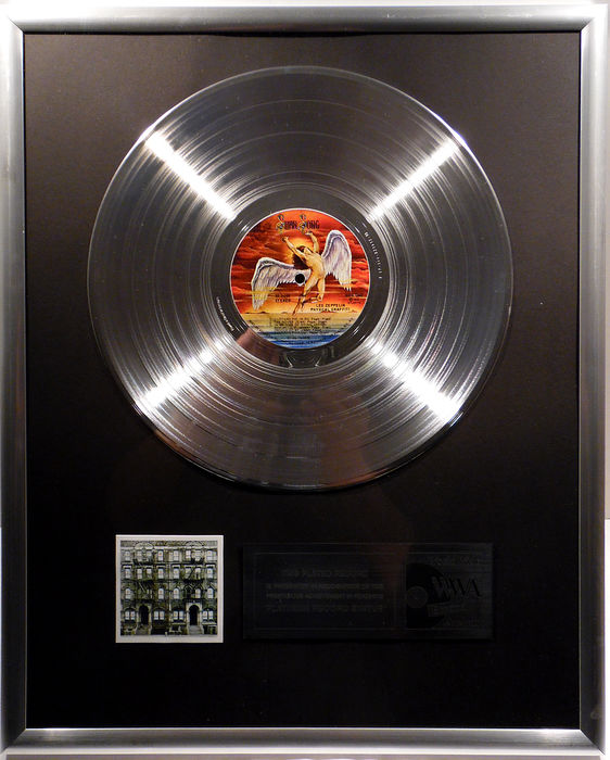"Led Zeppelin - Physical Graffiti - 12"" German Swan Song Record platinum plated record by WWA Awards"