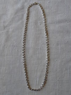 Unisex  925 Silver necklace   Weight: 18.87 g. Length: 52 cm.  Width: 4.11 mm.