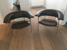 "Rudolf Wolf for Gaasbeek & Van Tiel - Set of ""Meander"" chairs"
