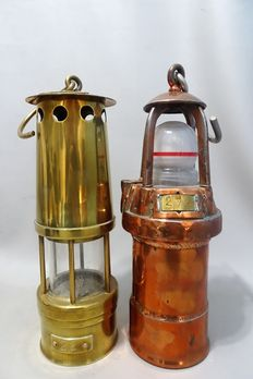 Two miners lamps - first half of the 20th century