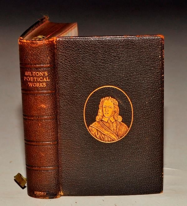the poetical works of john milton The poetical works of john milton by john milton george routledge and sons, 1867 hardcover used acceptable leather bound hinges cracked internally page painted gold.