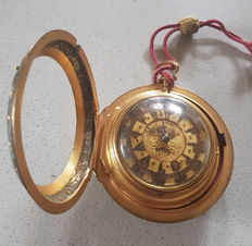 1) George Prior, London - fire-gilded verge watch with three casings for Ottoman Empire 1760.