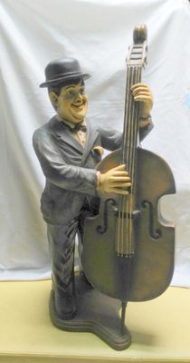 Hardy - Figure in polyester 91 cm - Hardy playing cello