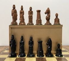 Mediaeval chess with board. 1960s