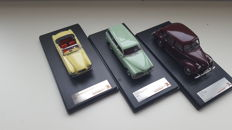 Premium X - Scale 1/43 - lot with 3 models: Volvo 220 Amazon Combi 1962, Volvo PV 60 1947 and Volvo P1900 Sport 1955