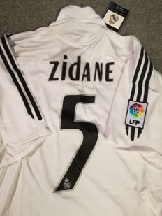 Authentic Real Madrid home shirt 2005/2006 - ZIDANE #5 - size XL