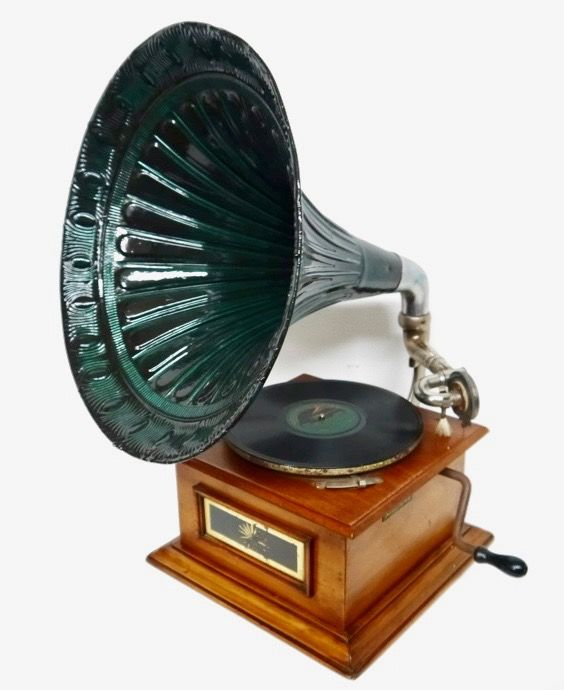 Gramophone with Horn - Netherlands - ca. 1900 brand Longines standard of the world
