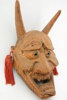Noh Mask Nogaku of Hannya - Japan - late 19th century