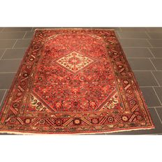 Persian carpet Malayar 220 x 160 cm, made in Iran, old rug, collector's piece, carpet