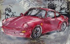 3D welded painting - 60 cm x 40 cm - Porsche